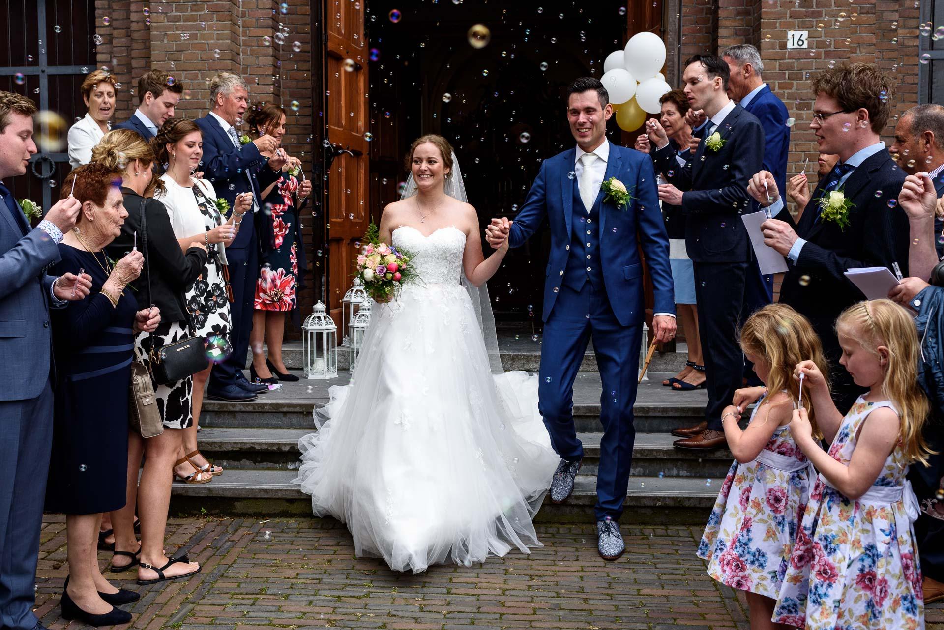 Wedding Soap Bubbles Church Exit